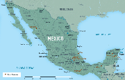 Map 10-9. Mexico destination map