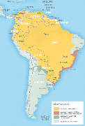 Map 4-14.Yellow fever vaccine recommendations in the Americas1