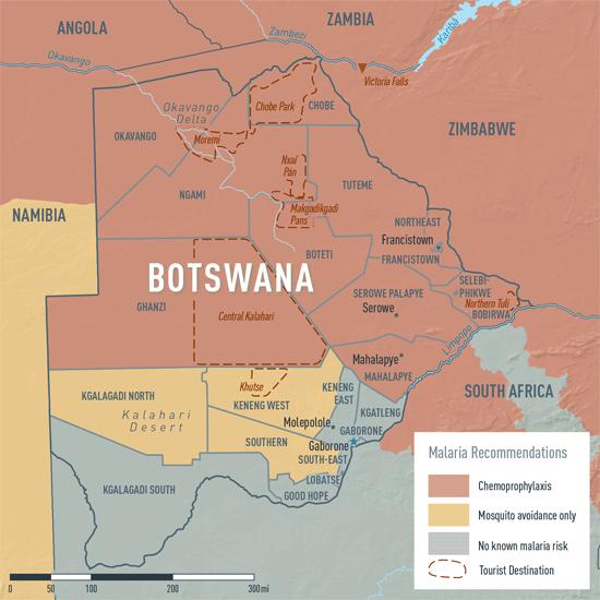 Map 2-4. Malaria in Botswana