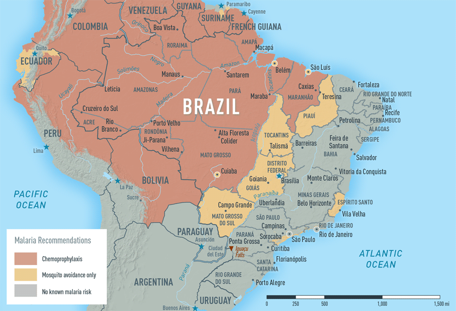 Map 2-6. Malaria in Brazil