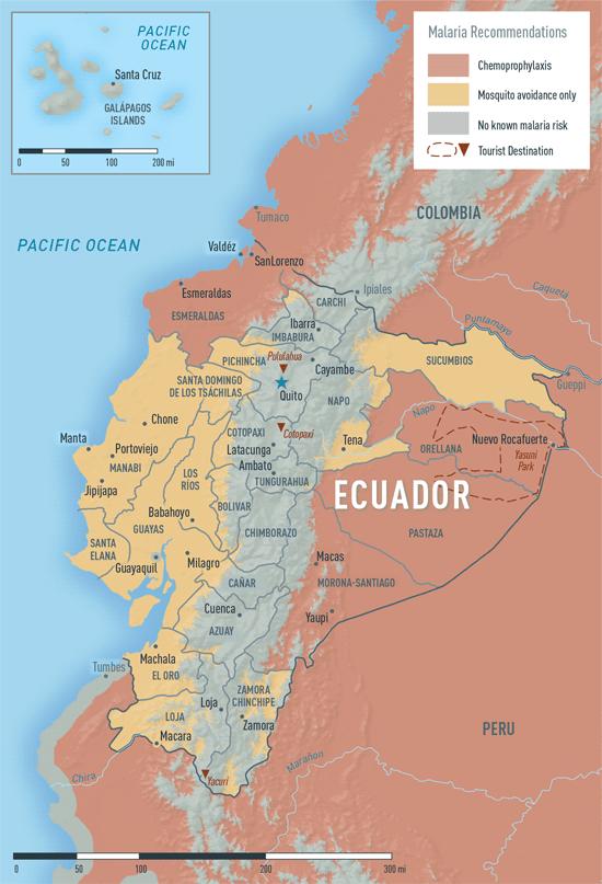 Map 2-12. Malaria in Ecuador