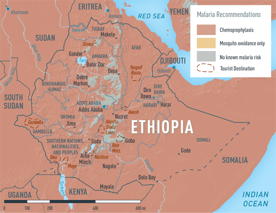 Map 2-14. Malaria in Ethiopia