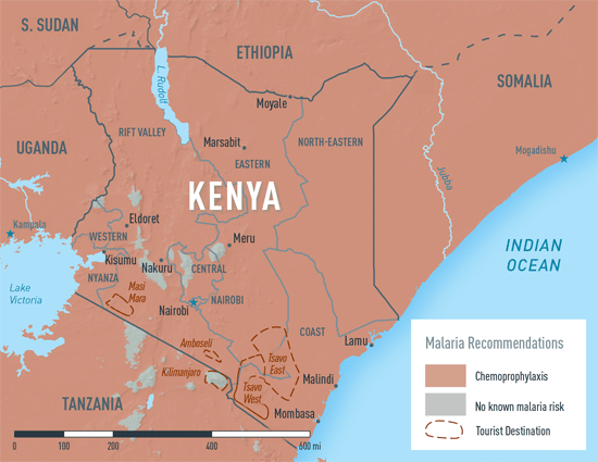 Map 2-17. Malaria in Kenya