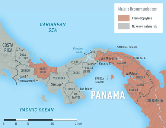 Map 2-22. Malaria in Panama