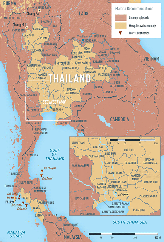 Map 2-26. Malaria in Thailand