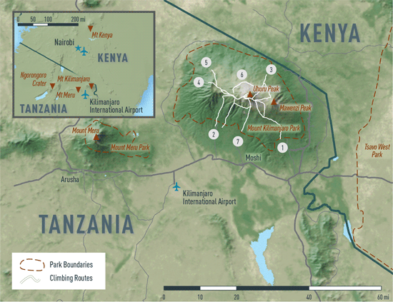 Map 10-4. Kilimanjaro destination map