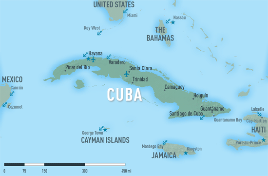 Map 10-6. Cuba destination map