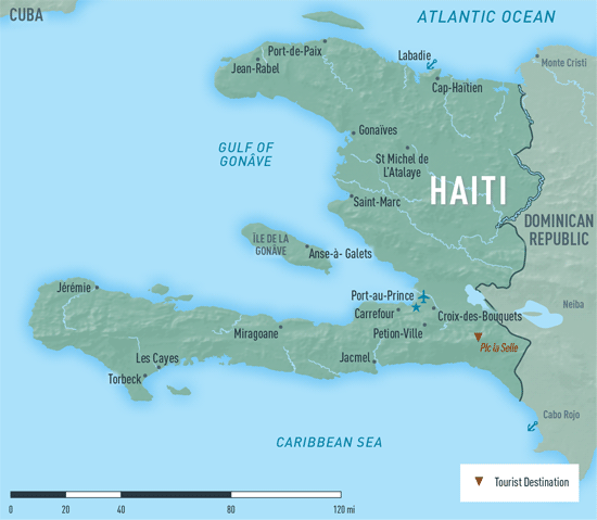 Map 10-8. Haiti destination map