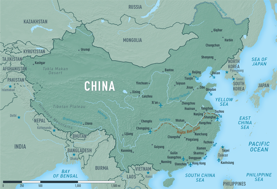 Map 10-12. China destination map