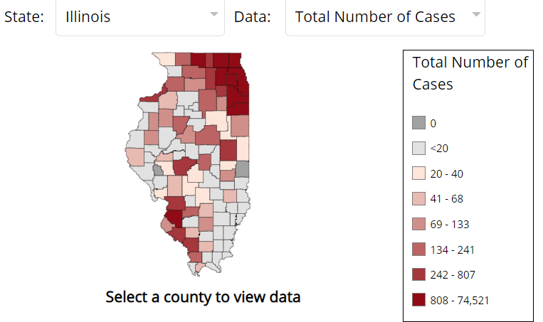 Coronavirus COVID-19 Curves by State and County
