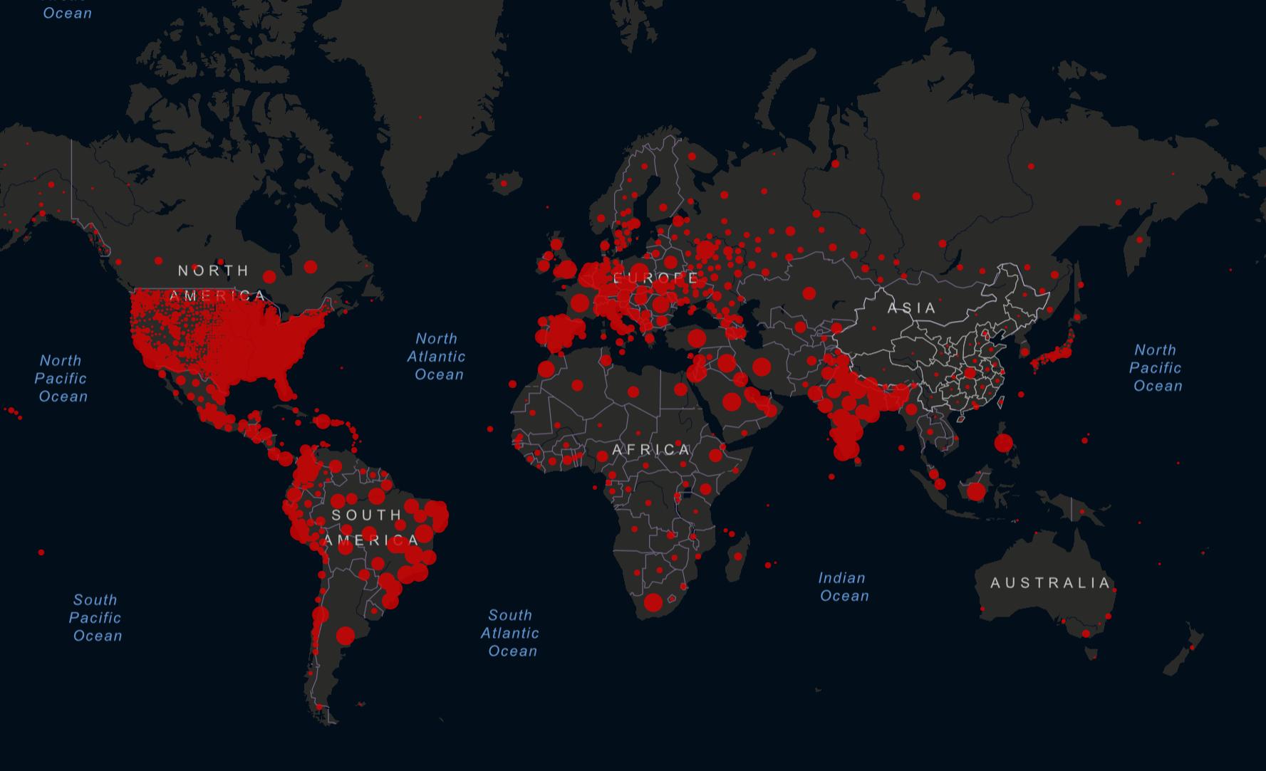 Coronavirus 2019 COVID-19 Outbreak Map