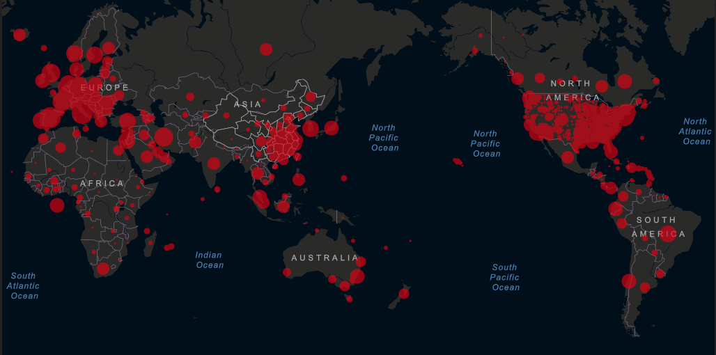 Coronavirus COVID-19 Outbreak Map SA